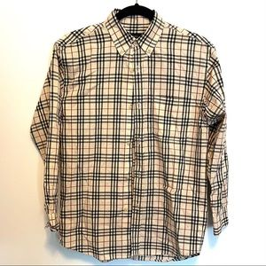 Classic Plaid Boy's Burberry Button-down shirt